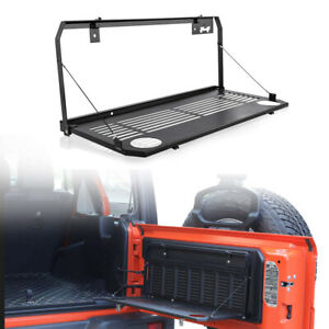 Multi Purpose Rear Tailgate Mounted Table Accessory For 2018 19 Jeep Wrangler Jl