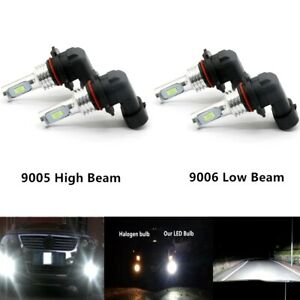 9005 9006 Kit High Low Beam 6000k Combo Cree Led Headlights Bulbs 8000lm 55w