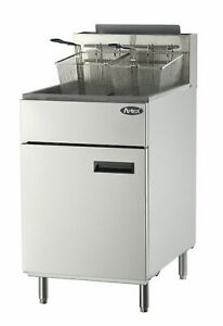 Atosa Atfs 75 Stainless Steel Deep Fat Fryer 75 Lb Gas Commercial Propane Lp