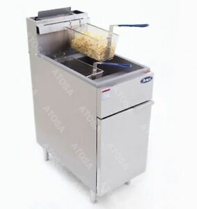 Atosa Atfs 50 Stainless Steel Deep Fat Fryer 50 Lb Gas Commercial Propane Lp