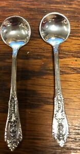 Vintage Wallace Rose Point Sterling Silver Salt Spoon 2 3 8 2 Available