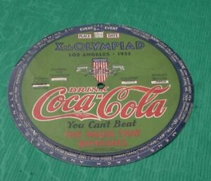 Vintage 1932 Coca Cola Xth. Olympiad Los Angeles Event Wheel Olympics
