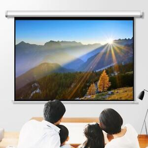Leadzm 100 4 3 Projector Screen Manual Pull Down Ceiling Wall Mountable