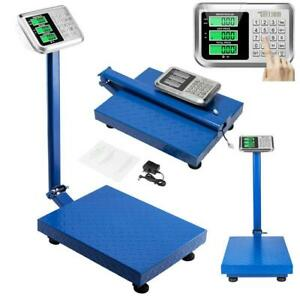 660lbs 300kg 100g Digital Shipping Postal Scale Floor Platform Blue