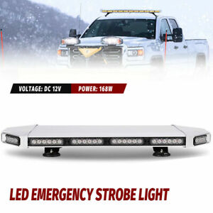 Us 27 56 Led Strobe Top Light Bar Amber White Emergency Beacon Warn Tow Truck