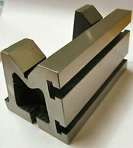 Precision Graded Caste Iron Vee Angle Plates heavy Duty 4 x4 x6 100x100x150mm