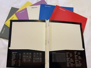 4800 Laminated Presentation Folders With Prongs Brand New In Box