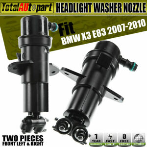2pcs Headlight Washer Nozzles Front left right For Bmw E83 X3 2007 2010 Suv