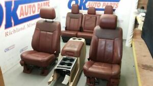 2011 16 Ford F250 F350 King Ranch Super Duty Seat Set Complete Interior Tan Trim