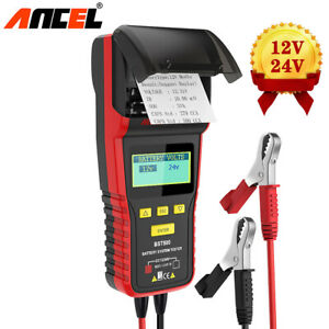 12v 24v Car Battery Tester With Thermal Printer Heavy Duty Truck Analyzer Tool