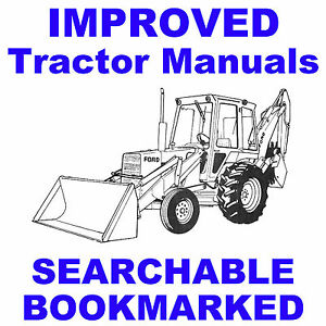 Ford 550 555 Tractor Loader Backhoe Service Operator Parts Catalogs 5 Manuals Cd