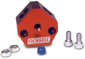 Russell Fuel Y Block 1 2 Inlet Dual 3 8 Outlets P N 650360