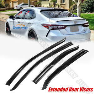 For 18 19 Toyota Camry Sport Jdm Mugen Style 3d Wavy Chrome Trim Window Visor