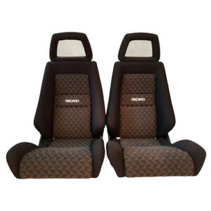 2 Jdm Recaro Lx Specialist Fishnet Headrest Reclinable Racing Seats Car Sale