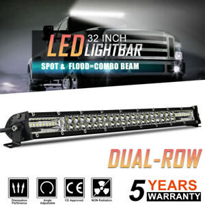 12d Dual Row 32 Led Light Bar 780w Driving Offroad Flood Spot Combo Beam Pk 30
