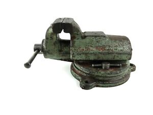 Vintage Antique Fpu 3 7 8 Jaw Bench Vise Poland Blacksmith Workshop Tool Fup