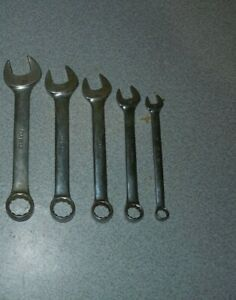 Snap on Stubby 12 Pt Metric Wrench Set 19 17 14 12 9mm