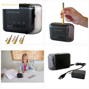 Officegoods Electric Battery Operated Pencil Sharpener Compact Reliable Fast