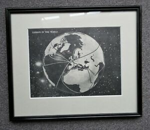 World Map London In The World Framed Print