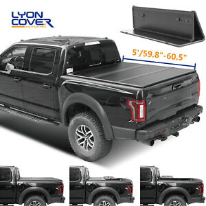 For 2016 2019 Toyota Tacoma 5 Feet Hard Solid Tri Fold Truck Bed Tonneau Cover