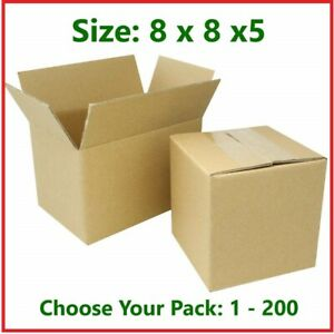 8x8x5 Cardboard Packing Mailing Gift Moving Shipping Boxes Corrugated Box Carton