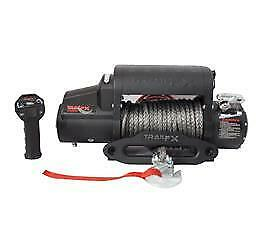 Trail Fx Ws10b Vehicle Recovery Winch 12 Volt 10000lbs 94 Synthetic Rope