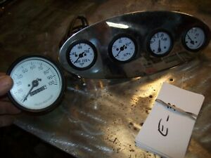 1932 Ford Stainless Dash Gauge Panel W Gauges Coupe Trog T A Jalopy Rat Rod Hot