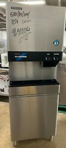 Hoshizaki 500 Lb Cubelet Ice Machine And Water Dispenser On Stand Dcm 500baf
