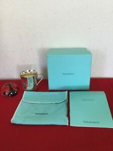 Authentic Tiffany Co 925 Heavy Sterling Silver 23245 Baby Cup Circa 1990 Wbox