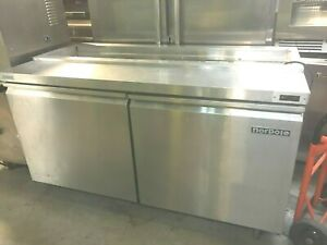 Prep Table Sandwich Salad Pizza Norpole 2 Doors 60 X 30 X 35 h Stainless S