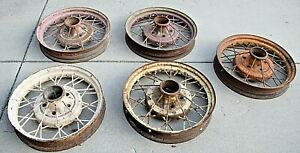 1930 1931 Model A Ford 19 Wire Wheels Set Of 5