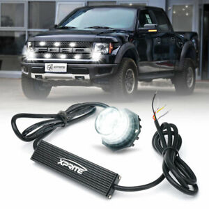 Xprite White Led Strobe Light Hide A Way Emergency Warning Light Head Mount