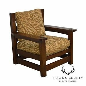 Stickley Mission Collection Oak Eastwood Lounge Chair