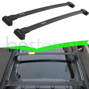 Us Stock Black Cross Bar For Jeep Grand Cherokee 2011 2020 Roof Rack Rail