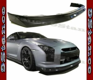 Cfrp Carbon Fiber Z Style Drill On Front Lip For 08 11 Gtr R35 Coupe Cba Model