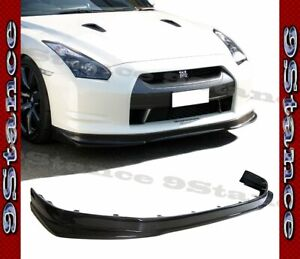 Cfrp Carbon Fiber K Style Drill On Front Lip For 12 16 Gtr R35 Coupe Dba Model