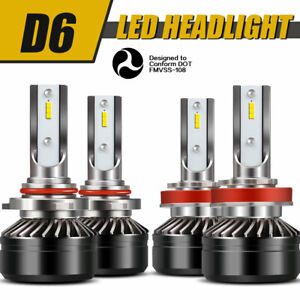 9005 H11 Combo Led Headlight High Low Beams 6000k 120w 24000lm High Power Lamps