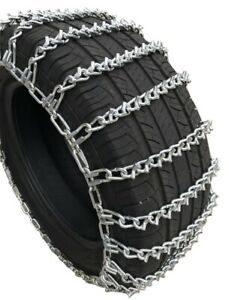 Snow Chains 265 70r 17 265 70 17 Lt V bar 2 link Tire Chains Set Of 2