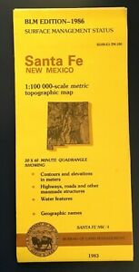 Usgs Blm Edition Topographic Map New Mexico Santa Fe 1986 Mineral Nw 4 1983