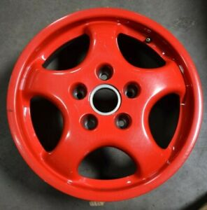 91 92 93 94 Porsche 911 Oem Wheel Rim 17x7 96536212401 Red 67198 Et55