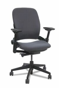 Steelcase Leap Chair V2 Task Chair Fully Loaded Link black Fabric