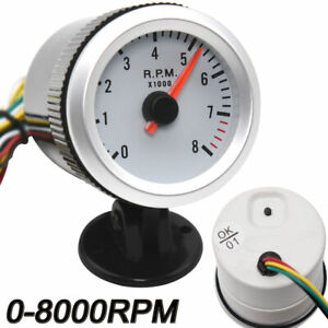 Universal 2 52mm Led Car Auto Tachometer Gauge Meter Pointer Tacometro Rpm Met