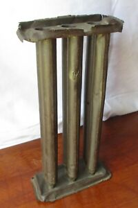 Antique 1800s Primitive Tin Candle Mold 6 Tubes W Hanger For Easy Wall Display