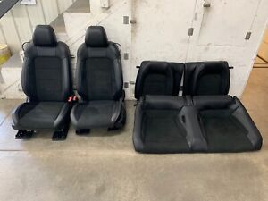2016 2018 Ford Mustang Gt350 Black Leather Suede Front Rear Seats Oem