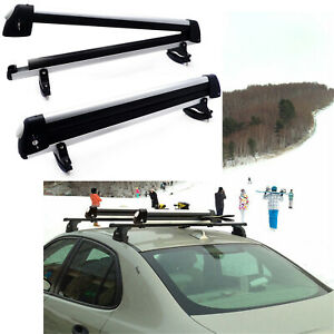 Universal Ski Snowboard Roof Rack Carriers For 6 Pair Skis Or 4 Snowboards