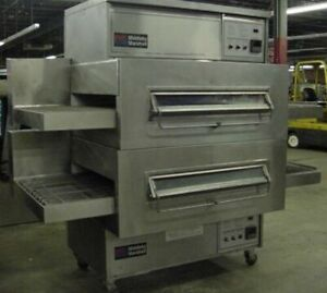 Middleby Marshall Ps360wb Doublestack Pizza Oven 40 Conveyor Belt Nat Gas