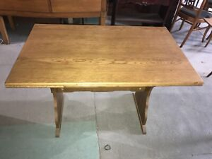 Mid Century Modern Teak Dining Kitchen Table Signed Made In Scandanavia Expands