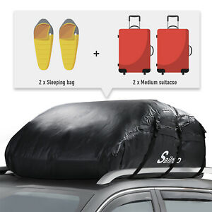 20 Cubic Feet Car Roof Bag Top Carrier Cargo Storage Rooftop Luggage 1000d rack