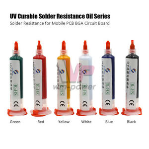 For Pcb Bga Circuit Board Uv Curable Solder Mask Oil Welding Repairing Paint