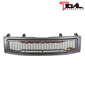 Tidal Replacement Led Grille Upper Gray Front Grill Fit 04 07 Nissan Titan